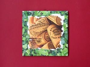kašírovaný obrázok na keramickom podklade, 1,70 €