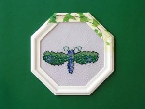 obrázok s výšivkou v drevenom ráme, farebný rám, od 2,60 do 6,30 € 1