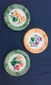 výšivka-jarné kvety